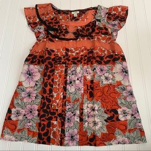 Odille 100% silk dress size 4 GUC